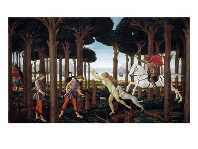 The Story of Nastagio Degli Onesti (First Episode), 1483 (From Boccaccio's Decameron)-Sandro Botticelli-Giclee Print