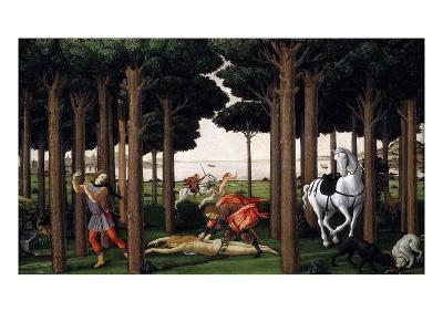 The Story of Nastagio Degli Onesti (Second Episode), 1483 (From Boccaccio's Decameron)-Sandro Botticelli-Giclee Print