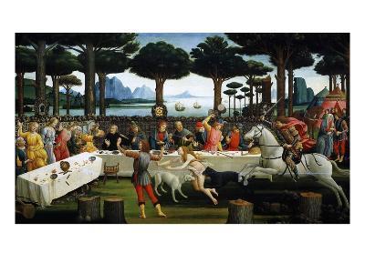 The Story of Nastagio Degli Onesti (Third Episode), 1483 (From Boccaccio's Decameron)-Sandro Botticelli-Giclee Print