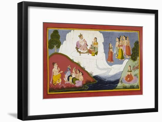 The Story Of the Ganges--Framed Giclee Print