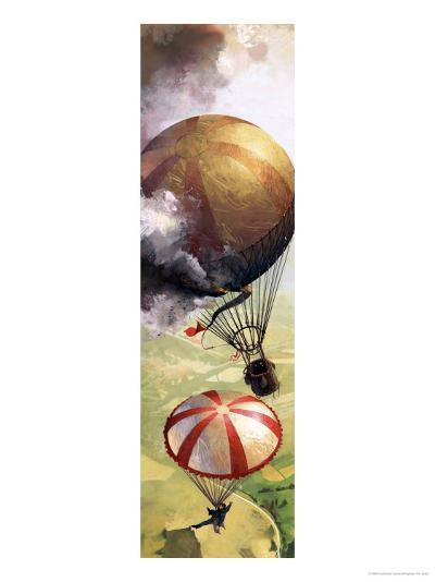 The Story of the Parachute: The Sky-Divers-Ferdinando Tacconi-Giclee Print