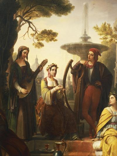 The Storytellers of the Decameron, 1851-Francesco Polazzo-Giclee Print