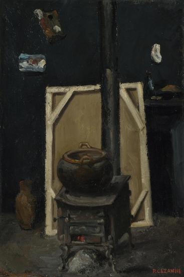 The Stove in the Studio, Ca 1865-Paul C?zanne-Giclee Print