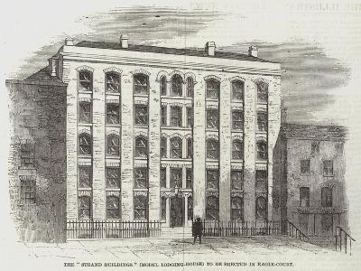 The Strand Buildings (Model Lodging-House) to Be Erected in Eagle-Court--Giclee Print