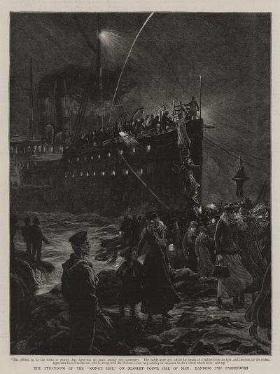The Stranding of the Mona's Isle on Scarlet Point, Isle of Man, Landing the Passengers--Giclee Print