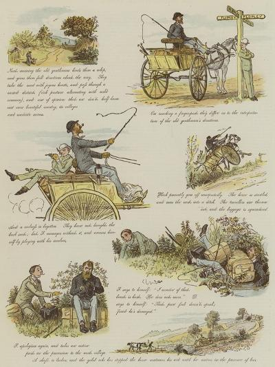 The Strange Adventures of a Dog-Cart-Randolph Caldecott-Giclee Print