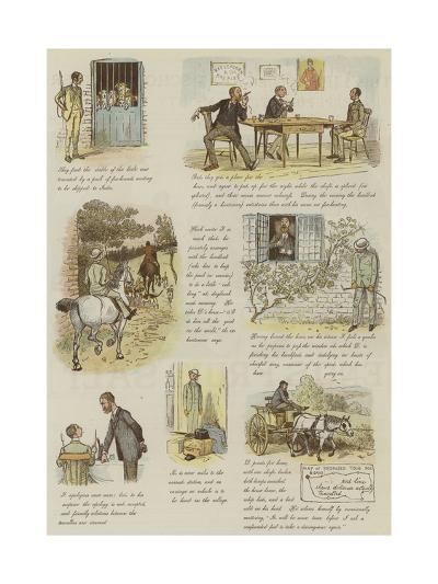 The Strange Adventures of a Dog-Cart-Randolph Caldecott-Giclee Print