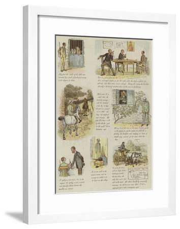 The Strange Adventures of a Dog-Cart-Randolph Caldecott-Framed Giclee Print