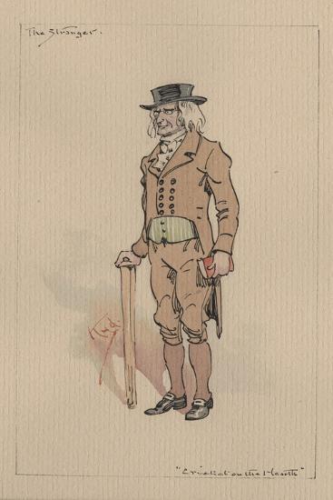 The Stranger, or Edward Plummer - the Cricket on the Hearth, C.1920s-Joseph Clayton Clarke-Giclee Print