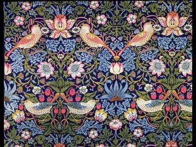 'The Strawberry Thief', textile designed by William Morris, 1883-William Morris-Premium Giclee Print