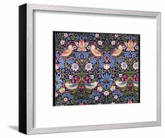 'The Strawberry Thief', textile designed by William Morris, 1883-William Morris-Framed Premium Giclee Print