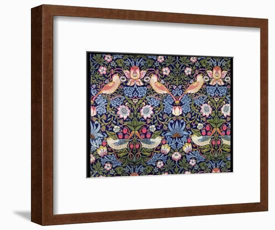'The Strawberry Thief', textile designed by William Morris, 1883-William Morris-Framed Premium Giclee Print