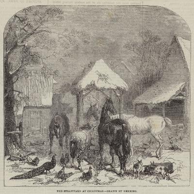 The Strawyard at Christmas--Giclee Print