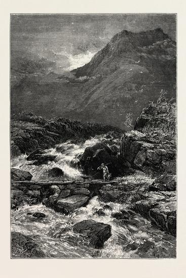 The Stream from Llyn Idwal, North Wales, UK, 19th Century--Giclee Print