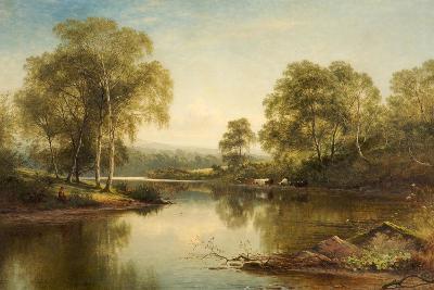 The Stream Through the Birch Woods, 1871-Benjamin Williams Leader-Giclee Print