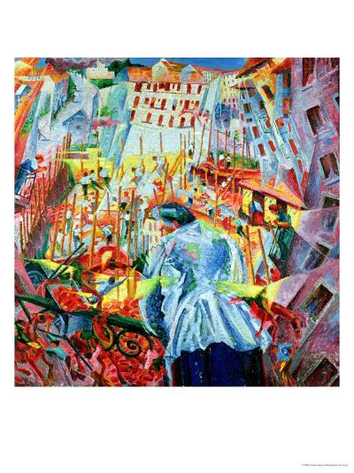The Street Enters the House, 1911-Umberto Boccioni-Giclee Print