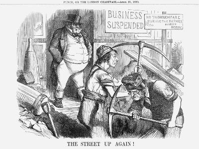 The Street Up Again!, 1859--Giclee Print