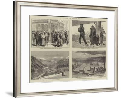 The Strike in South Wales-Joseph Nash-Framed Giclee Print