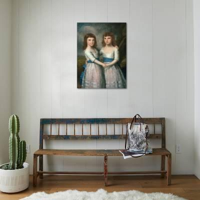 The Stryker Sisters, 1787 Giclee Print by Ralph Earl | Art.com