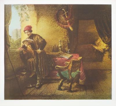 The Student-Rembrandt van Rijn-Collectable Print