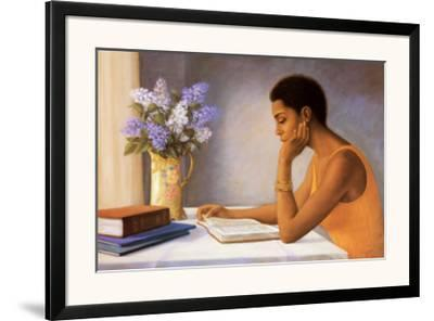 The Student-Tim Ashkar-Framed Art Print