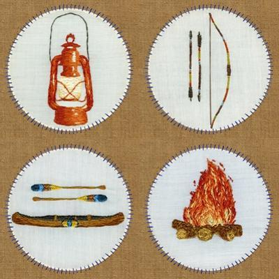 Camping Embroidery Grid by THE Studio