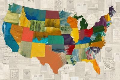Collaged US Map by THE Studio