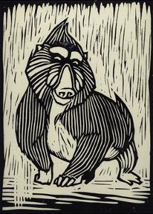 Mandrill Linocut by THE Studio