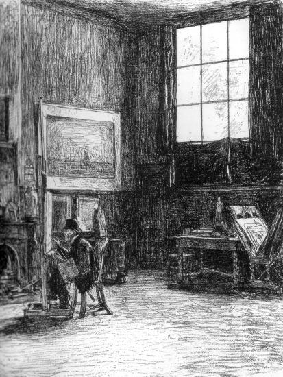 The Studio (Nort), C1880-1882-Jozef Israels-Giclee Print
