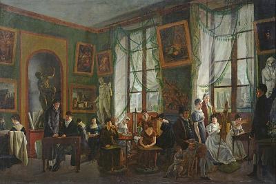 The Studio of Madame Haudebourt-Lescot-Joseph Albrier-Giclee Print