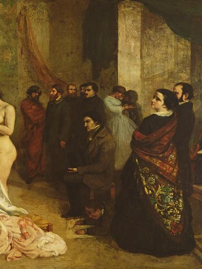 The Studio of the Painter, a Real Allegory, 1855-Gustave Courbet-Giclee Print