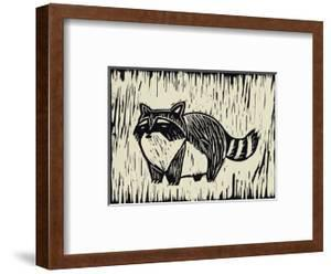 Raccoon Linocut by THE Studio