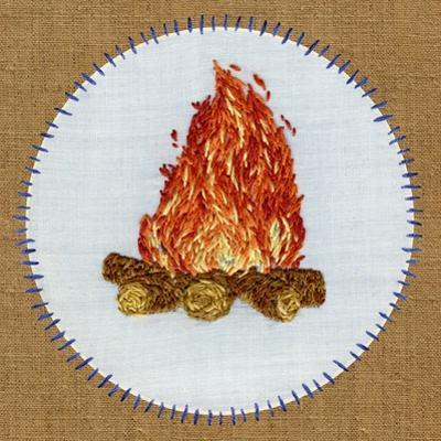 Vintage Camping Embroidery D by THE Studio