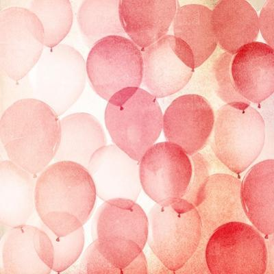 Vintage Red Balloons A by THE Studio