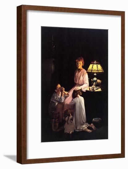The Stuff of which Memories Are Made (or Children Saying Prayers)-Norman Rockwell-Framed Giclee Print