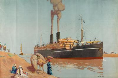 The Suez Canal-Charles Pears-Giclee Print