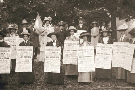 The suffragettes of Ealing, London, 1912-Unknown-Photographic Print