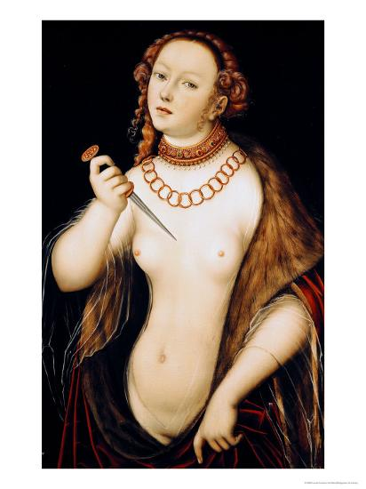 The Suicide of Lucretia, 1538-Lucas Cranach the Elder-Giclee Print