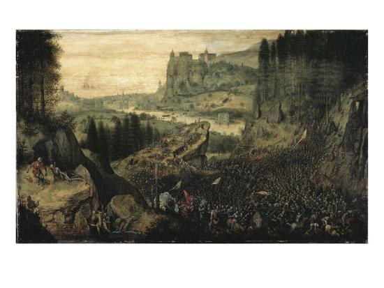 The Suicide of Saul-Pieter Bruegel the Elder-Giclee Print