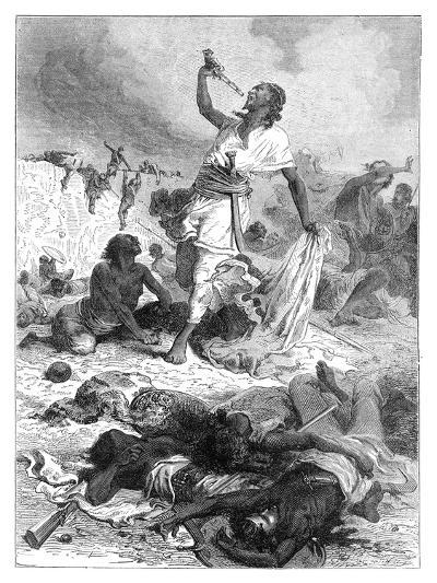 The Suicide of Theodore, Magdala, Ethiopia, 1868--Giclee Print