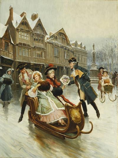 The Suitor's Sleighride-Alonso Perez-Giclee Print