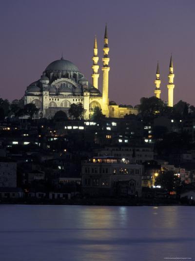 The Suleymaniye Mosque, as Seen from the Galata Bridge, Istanbul, Turkey-Richard Nowitz-Photographic Print