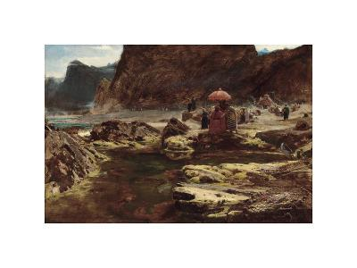 The Sultan and his Camp by the Enchanted Lake, 1888-Albert Goodwin-Premium Giclee Print