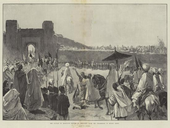 The Sultan of Morocco's Return to Mequinez from His Pilgrimage to Muley Edris-Gabriel Nicolet-Giclee Print