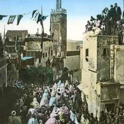 The Sultan's Cavalry Going to the Mosque, Tangier (Morocco), Circa 1885-Leon, Levy et Fils-Photographic Print