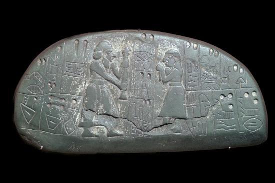 The Sumerian 'Blau Tablet', 30th century BC-Unknown-Giclee Print