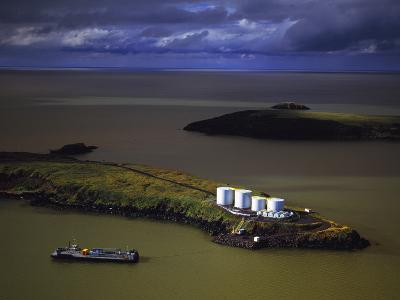 The Summer Fuel Barge Making its Delivery at St. Michaels in Western Alaska-Paul Andrew Lawrence-Photographic Print