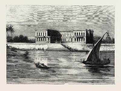 The Summer Palace of the Viceroy at Cairo Egypt, 1882--Giclee Print