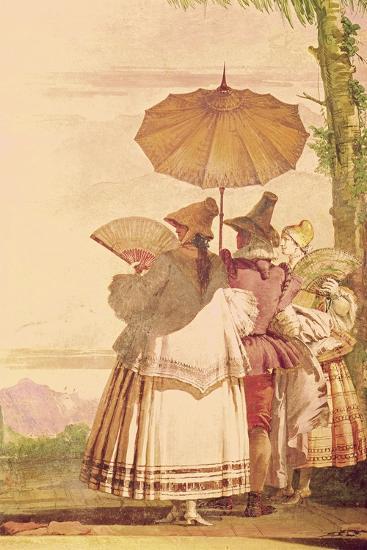The Summer Promenade, C.1757-Giandomenico Tiepolo-Giclee Print