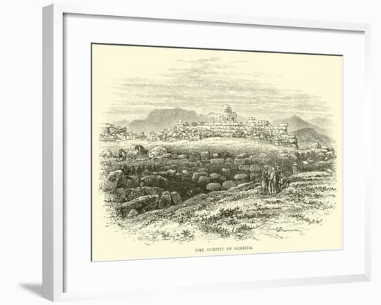 The Summit of Gerizim--Framed Giclee Print